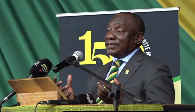 ANC President Cyril Ramaphosa at Charlotte Maxeke memorial 2021