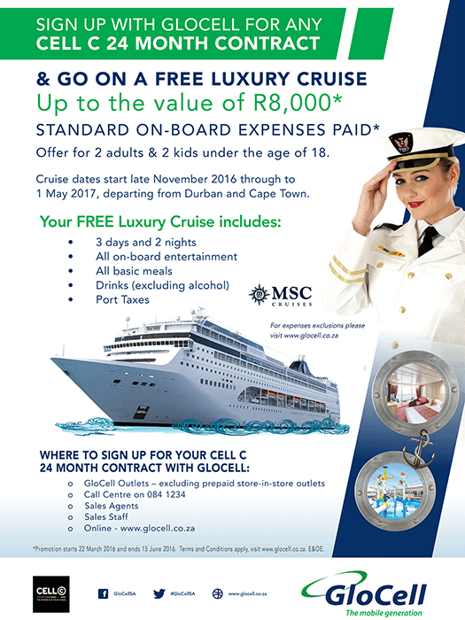 GloCell cruise promotion