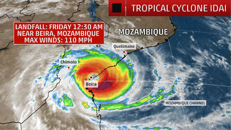 Loss in communications after Cyclone Idai lashes Mozambican port