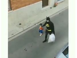 dad in batman suit