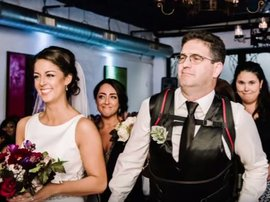 Dad with MS walks daughter down the aisle