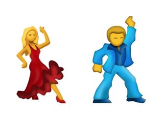 dancer with partner emoji