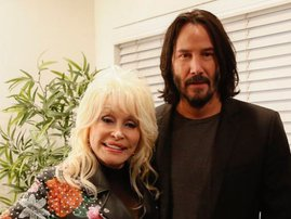 Dolly Parton and Keanu Reeves