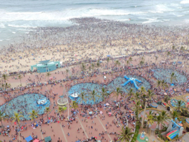 Durban beaches during New Year's Day