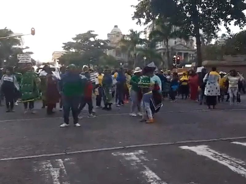 Durban CBD protest