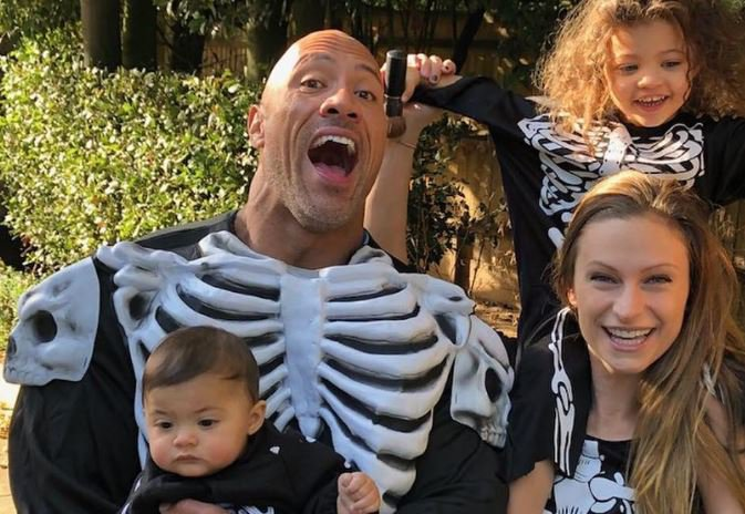 Dwayne 'The Rock' Johnson and his family