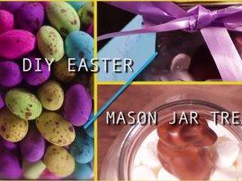 DIY mason jar Easter treats