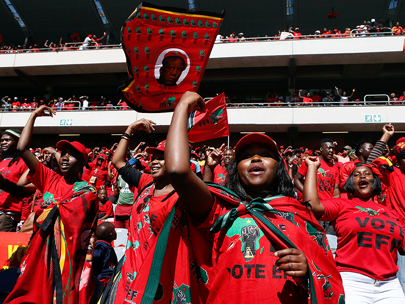 EFF rally at Orlando Stadium, Johannesburg, general elections 2019, elections