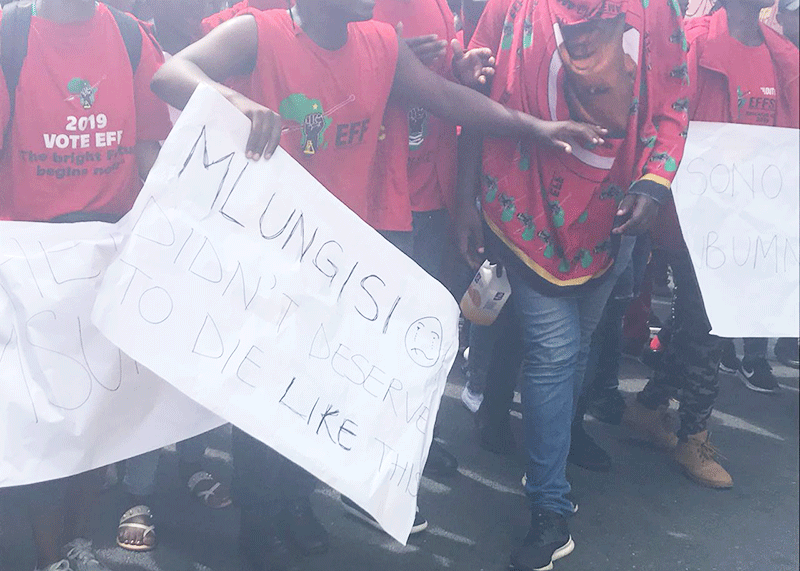 Protests in Durban after death of 20-year-old student