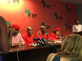 EFF julius Malema press briefing