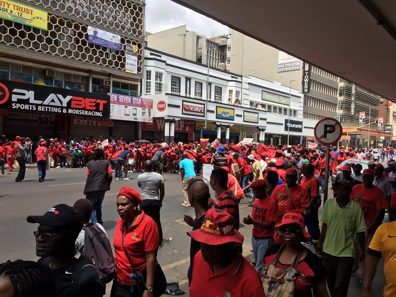 EFF supporters occupy Pretoria
