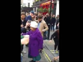 elderly woman dance moves funny