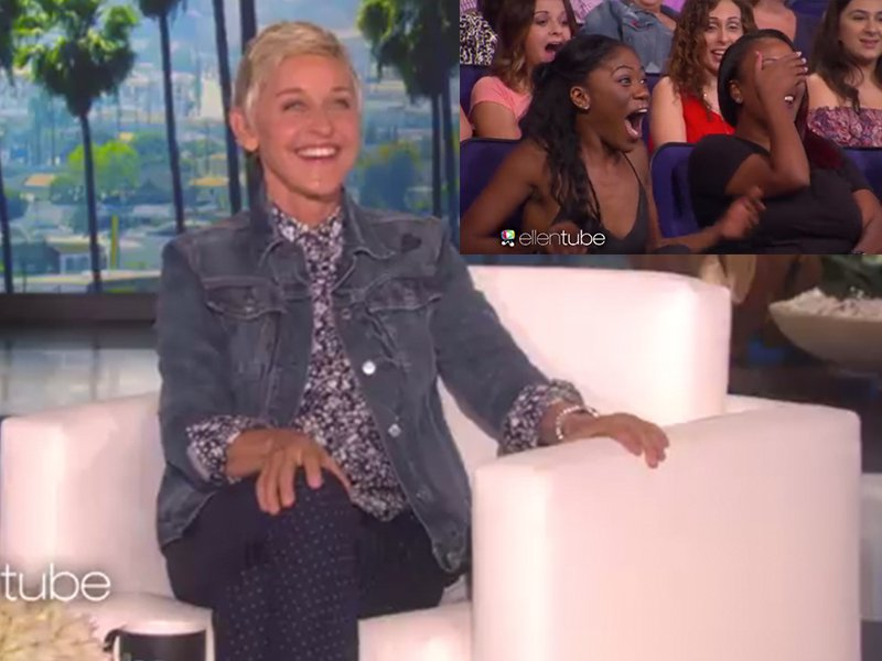 Ellen DeGeneres puts audience member in 'jail' for stealing