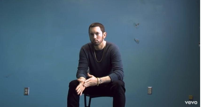 Eminem Ed Sheeran 'River' video