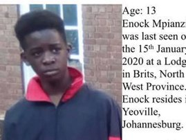 Enoch Mpianzi missing at camp Parktown Boys High