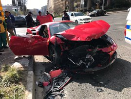 Ferrari crashes into Mazda