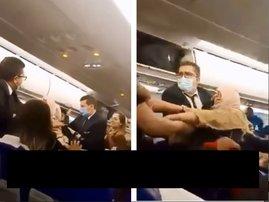 Flight attendant fight hair