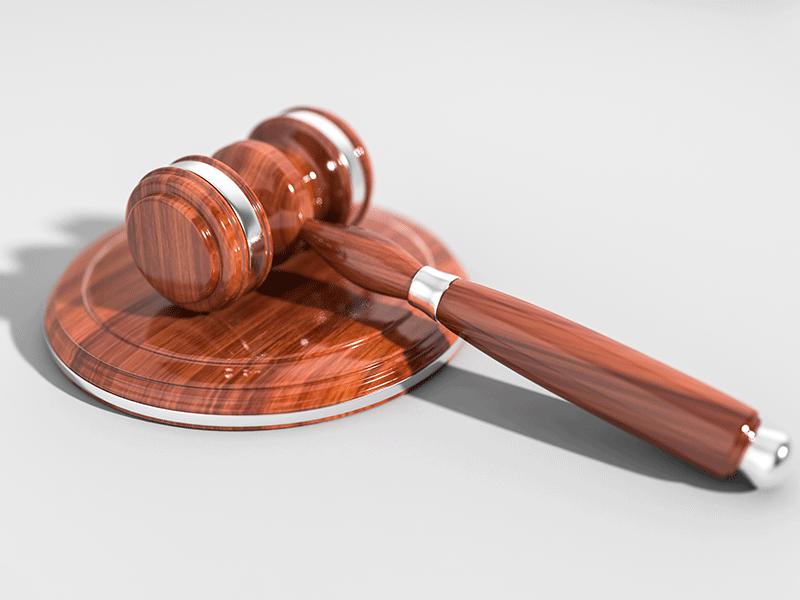 Gavel, courtroom