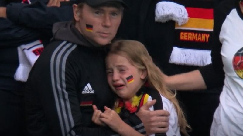 WATCH: German girls receives R700k after English fans cheer as she cries