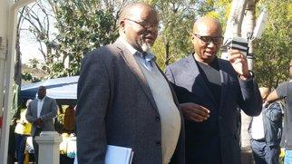Gwede Mantashe and Zizi Kodwa