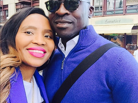 Mnister Malusi Gigaba and his wife Noma