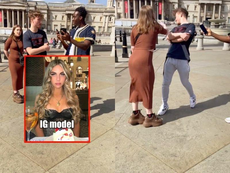 Girlfriend slaps boyfriend after insult