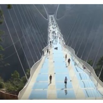 World S Highest And Longest Glass Bridge Finally Opens
