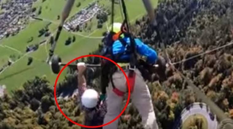 WATCH: Hang-glider clings on for dear life in heart-stopping video