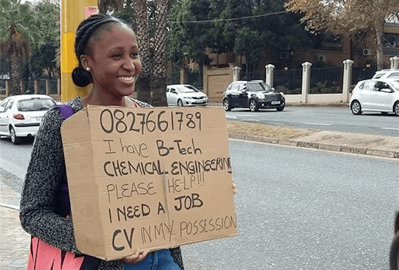 unemployed graduate at the robots
