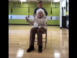 granny at the gym