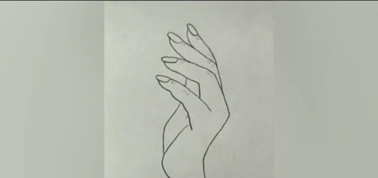 picture of  a drawn hand