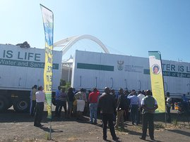 Water storage tankers for drought-hit KZN municipalities