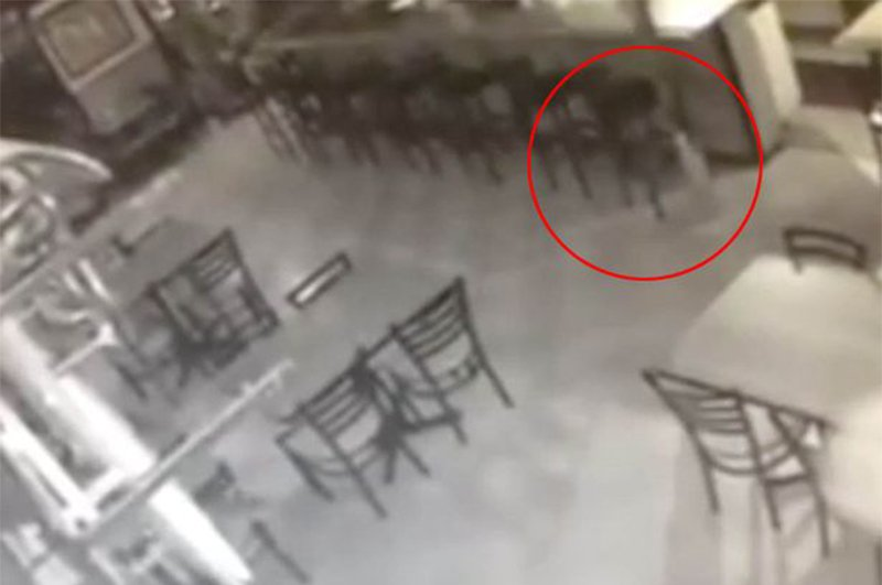 Haunted bar footage