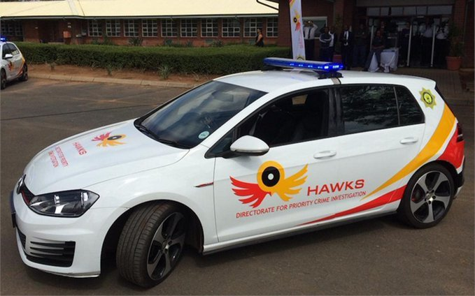 Hawks car parked
