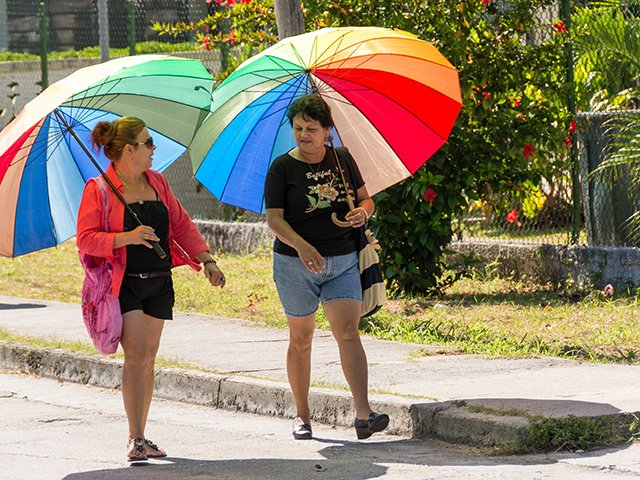 Heat, umbrella, weather