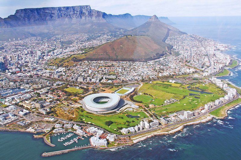 Cape Town - Helicopter view