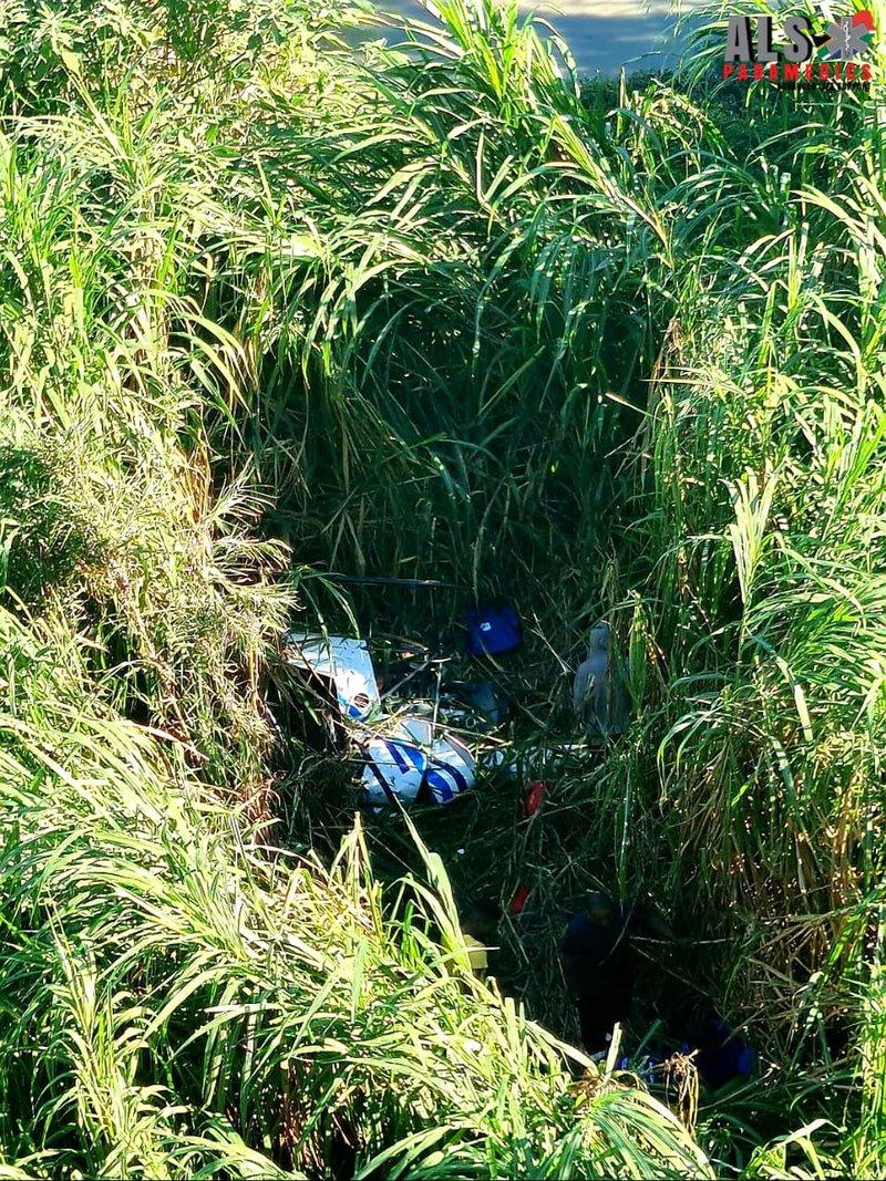 Helicop crash Umgeni