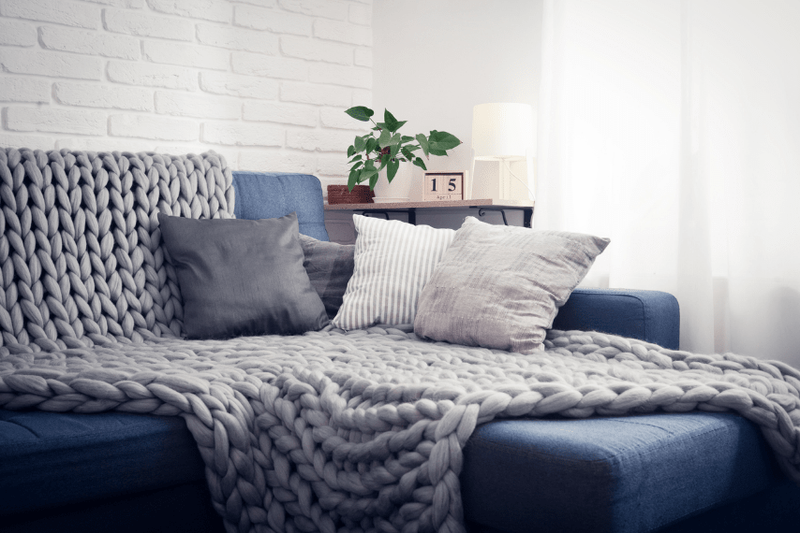 Home decor winter blanket living room couch