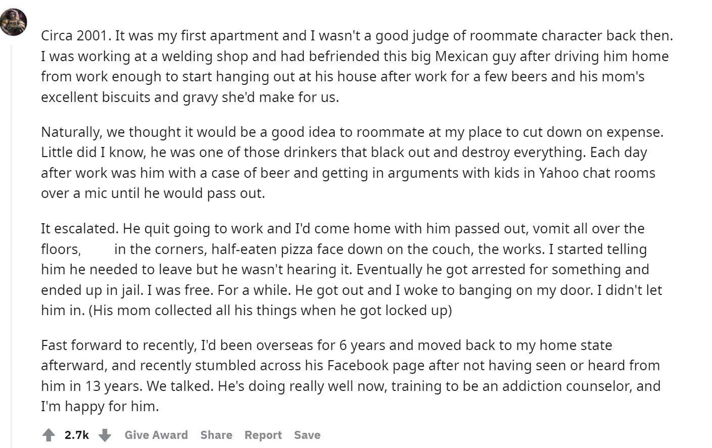 Horror roommate
