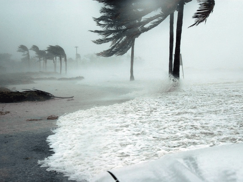 Hurricane in Hawaii