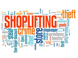 Shop theft stock photo