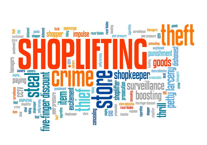 Shop theft stock photo