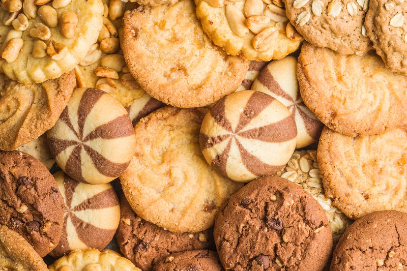 Types of sweet cookies