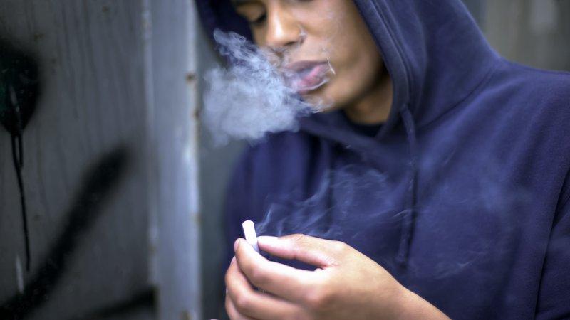 Teenager smoking