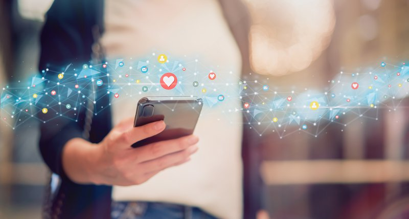Social media and digital online concept