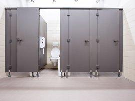 Bathroom stall doors / iStock