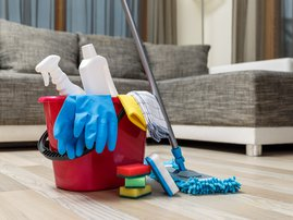 Cleaning service supplies / iStock