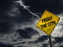Friday the 13th Sign With Stormy Background / iStock