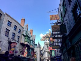 Diagon Alley area of the Wizarding world of Harry Potter