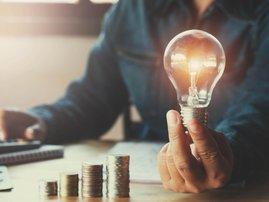 Save electricity energy light bulb money